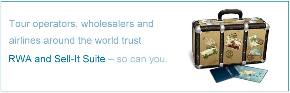 Tour operators, wholesalers and airlines around the world trust RWA and Sell-It Suite – so can you.